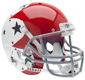 Air Force Falcons Replica Red, White and Stars Football Helmet
