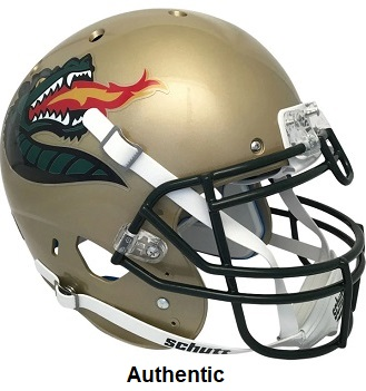 UAB Alabama Birmingham Blazers Authentic Gold Dragon XP Helmet