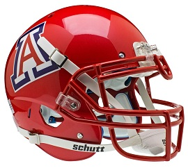 Authentic University of Arizona Scarlet XP Helmet by Schutt