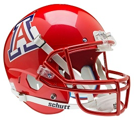 Replica University of Arizona Scarlet XP Helmet by Schutt