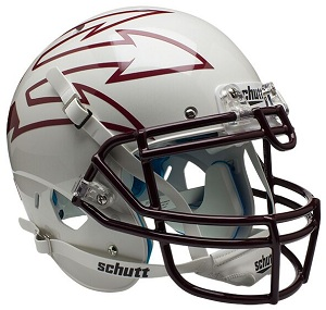 Authentic Arizona State White XP Helmet by Schutt