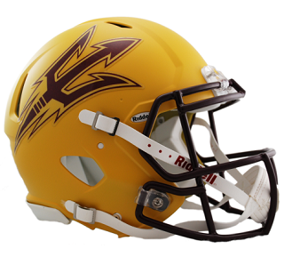 Arizona State Authentic Gold Speed Helmet Riddell