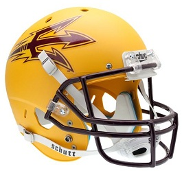Replica Arizona State Gold XP Helmet by Schutt