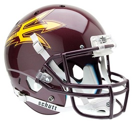 Replica Arizona State Maroon XP Helmet by Schutt