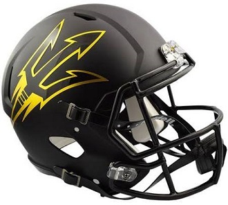 Arizona State Authentic Satin Black Speed Helmet Riddell