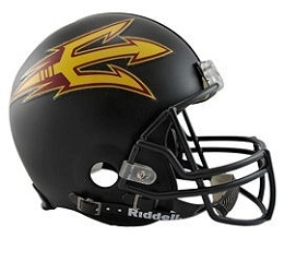 Arizona State Football Helmet Authentic Gold Speed Riddell