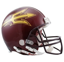 Arizona State Football Helmet Authentic White Speed Riddell