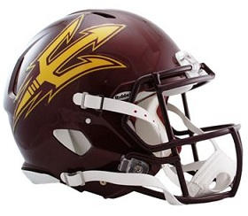 Arizona State Authentic Maroon Speed Helmet Riddell