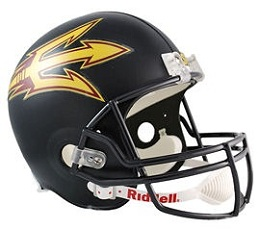 Arizona State Football Helmet Authentic Black Speed Riddell
