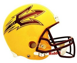 Arizona State Football Helmet Replica Gold Riddell