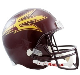Arizona State Football Helmet Authentic Maroon Speed Riddell