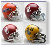 University of Oklahoma Sooners Authentic and Replica Football Helmets by Riddell and Schutt