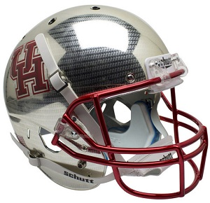 University of Houston Replica Crosshatch Football Helmet