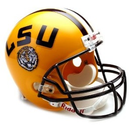 Replica LSU Football Helmet by Riddell