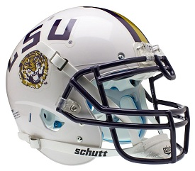 Authentic LSU White XP Helmet by Schutt