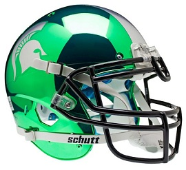 Michigan State Authentic Green HydroChrome Helmet