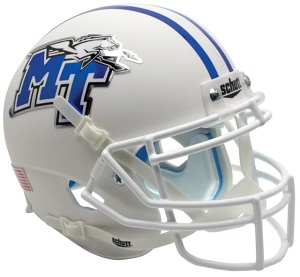Middle Tennessee State Blue Raiders Alt. White XP Football Helmet