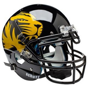 university of missouri tigers football helmets