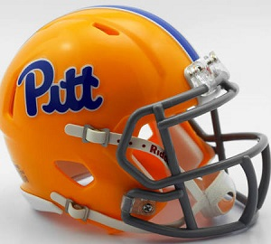 University of Pittsburgh Replica Throwback Gold Speed Helmet