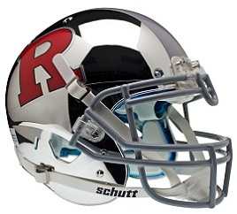 Authentic Rutgers Chrome Red Gray XP Helmet by Schutt
