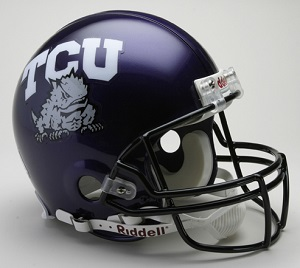 TCU Horned Frogs Authentic Football Helmet