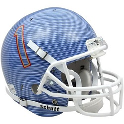 University of Tulsa Hurricane Replica Carbon Fiber Blue Football Helmet