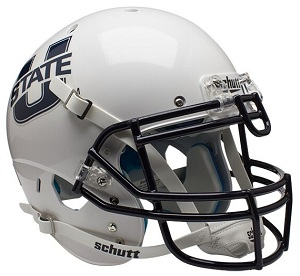 Authentic Utah State White XP Football Helmet