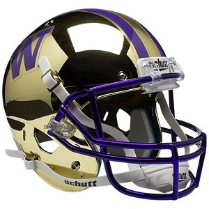 University of Washington Replica Gold Chrome XP Helmet