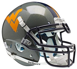 West Virginia Mountaineers Authentic Football Helmet by Schutt