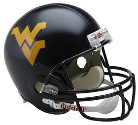 West Virginia Mountaineers Full Size Replica Football Helmet by Riddell